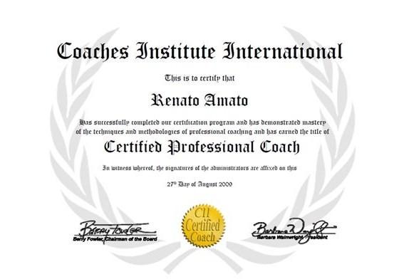 Coach Certificate