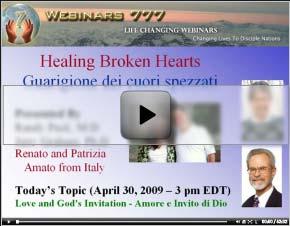 Camtasia video for Healing Broken Hearts webinar on 2009-04-30